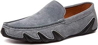 DADIJIER Zapatos Mocasines for Hombres Slip on Mocasines Piel de Gamuza Genuina Suelas de Pulpo Antideslizantes Fashing Sneak