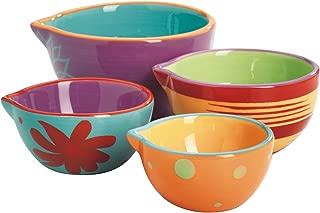 Anchor Hocking 4-Piece Ceramic Nesting Decorated Prep Bowl Set