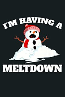 I M Having A Meltdown Funny Melting Snowman Premium: Notebook Planner - 6x9 inch Daily Planner Journal, To Do List Noteboo...