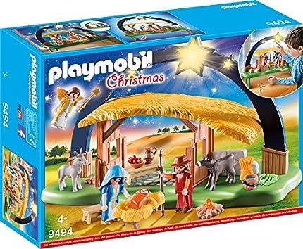 PLAYMOBIL Christmas Belén con Luz , A partir de 4 años (9494)