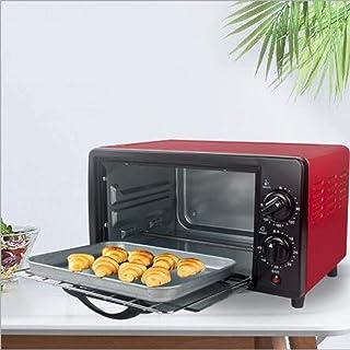 12L eléctrico mini horno con placa doble, múltiples funciones de cocción Grill, temperatura ajustable Control, temporizador - 800W hsvbkwm (Color : Black)