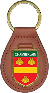 Chamberlain Family Crest Coat of Arms Key Chains