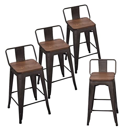 Counter Height Industrial Stools With Backs Amazoncom