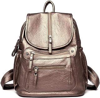 Multifunctional Backpack, Soft Leather Backpack, Girl Travel Backpack, Women's School Bag.