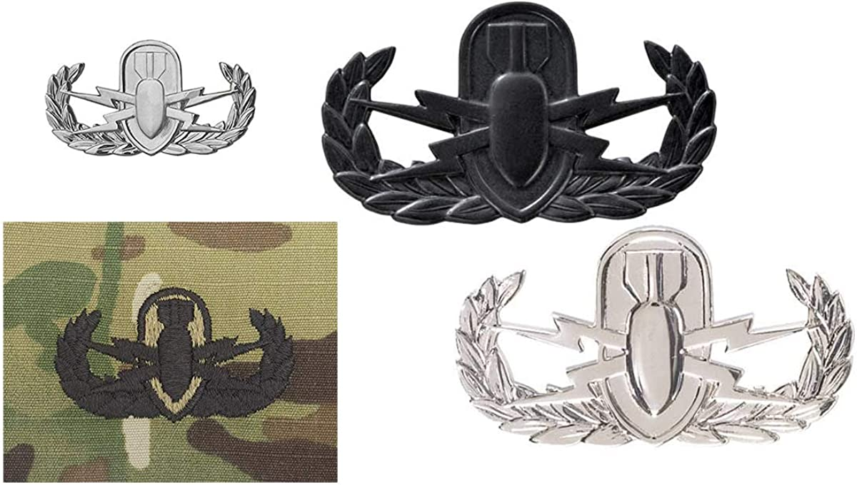 US Army Subdued Cloth Basic Explosive Ordnance Badge