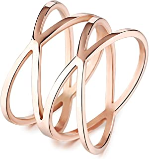 MENSO Women's 14mm Fashion Bird's Nest Hollow Rose Gold Plated Ring Lovely Heart Charming Lady Gril Band Charm