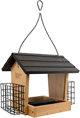 Nature's Way Bird Products BWF28 Bamboo Hopper Feeder with Suet