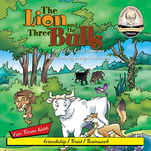 The Lion and the Three Bulls audiobook cover art