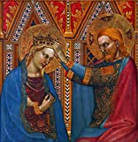 Berkin Arts Giovanni Da Milano Giclee Imprimir en Lienzo-Pinturas Famosas Arte Fino Póster-Reproducción Decoración de Pared(Coronación de la Virgen) #XFB