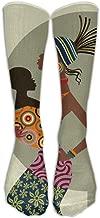 African American Mother Kid Athletic Tube Stockings Women's Men's Classics Knee High Socks Sport Long Sock One Size