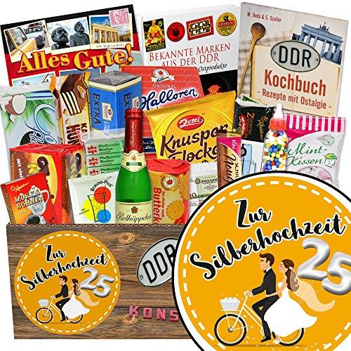 Zur Silberhochzeit / DDR Box Süßigkeiten / Geschenke Silberhochzeit Freunde