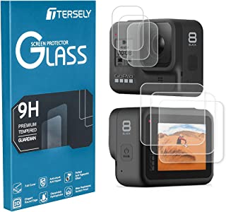 TERSELY Screen Protector for GoPro Hero 8 Black, [3 Packs,6 Pcs] 9H Hardness Tempered Glass Screen Protector Front Camera ...