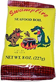 Swamp Fire Crab, Crawfish and Shrimp Complete Cajun Seafood Boil, 8 Ounce Bag
