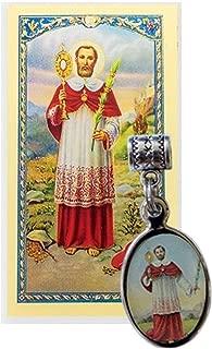 Gifts by Lulee, LLC San Ramon Nonato Patron de las Mujeres embarazadas medalla con Cadena y tarjeta de rezo Gratis bendita por el Papa