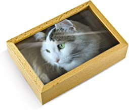 Light Wood Tone 18 Note Musical Photo Frame Keepsake - Over 400 Song Choices - Home on The Range