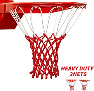 HUAHUA Professional Heavy Duty Basketball Net - All Weather Anti Whip, Fits Standard Indoor or Outdoor Rims - White, 12 Loops