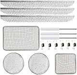 RV Flying Insect Screen for RV Water Heater Vent Cover Protects RV Furnaces from Insects Stainless Steel Mesh with Installation Tool 20