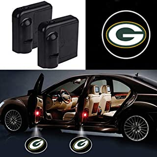 JDCLUB Starijas 2pcs NFL - Rugby Team Logo Car Door Led Welcome Laser Projector Car Door Courtesy Light Suitable Fit for All Brands of Cars with Green Bay Packers Logo