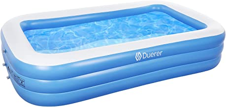 Duerer Inflatable Swimming Pools, Inflatable Pools, Full-Sized Family Blow up Pool for Kids Toddlers Adults, Lounge Inflat...