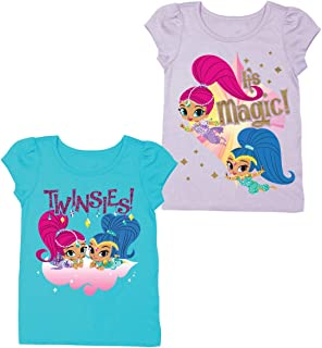 b0d7d74f5a Nick Jr Shimmer and Shine T-Shirts - 2 Pack of Nickelodeon Shimmer and Shine