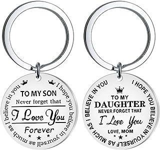 """PRETYZOOM - Portachiavi con scritta """"Il mio figlio"""", idea regalo ispirata a papà, mamma e papà, non dimenticate, mai che t..."""