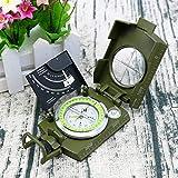 GUOLIANG Brújulas Lensáticas K4074 al Aire Libre de múltiples Funciones de Viajes Militar Geología Bolsillo prismático Estadounidense Brújula con Pantalla Luminosa (Color : Green)