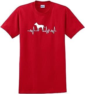 ThisWear Pitbull Gifts Dog Lover Heartbeat Pitbull T-Shirt