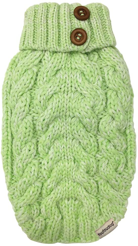 FouFou Dog 87066 Luxe Cable Knit Dogs Sweater Dallas Mall Lime Large G Max 72% OFF for
