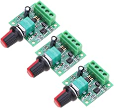 Onyehn 3Pcs 1.8v 3v 5v 6v 7.2v 12v 2A 30W Low Voltage DC Motor Speed Controller PWM 1803BK 1803B Adjustable Driver Switch 3 Pack