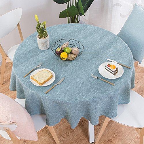 XJ&DD Stoff-tischdecke,Volltonfarbe Baumwolle Einfache Runde Für Coffee Table Esstisch Home Hotel-C 140cm(55inch)
