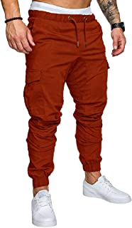 Howely Mens Slim Fitting Running Trousers Casual Vogue Cargo Pants Trousers Pants
