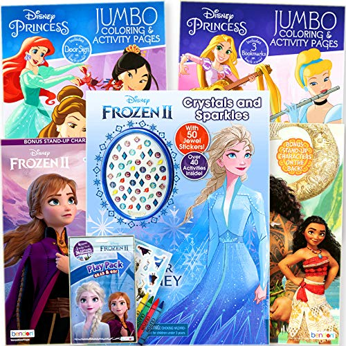 Disney Princess Coloring Book Super Set for Kids - Activities, Stickers and Games - Featuring Disney Princess, Frozen and Moana