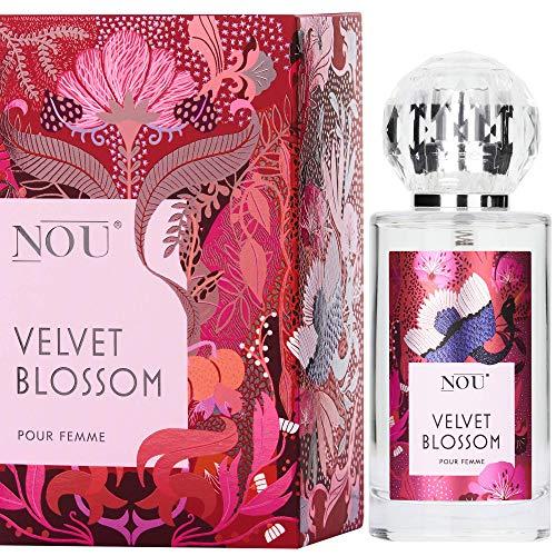 Perfume cítrico - Perfume fresco con notas exóticas y picantes - Perfume natural para mujeres con infusión de aceites esenciales y notas terrosas - Perfume NOU Velvet Blossom para mujeres - 50 ml EDP