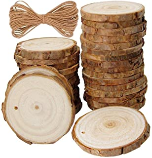 Unfinished Natural Wood Slices 20Pcs 2.75