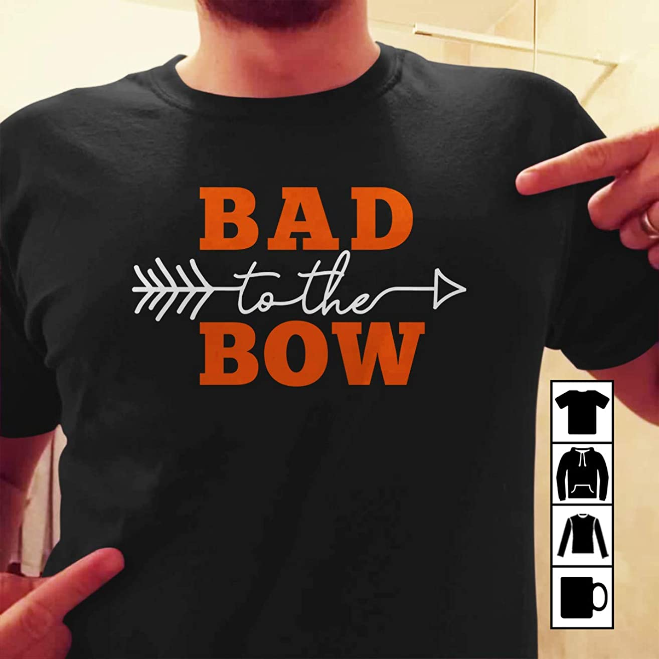 Bowman Archer Archery Bad to the Bow T Shirt Long Sleeve Sweatshirt Hoodie Youth