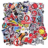 EKKONG 100PCS Graffiti Autocollants Pack, Cartoon Vsco Stickers pour Enfants Adolescents Adultes, Vinyles...