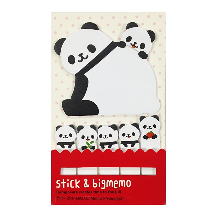 Wrapables Bookmark and Memo Sticky Notes, Panda and Cubs d417039215