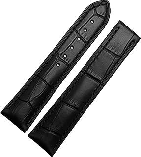 Nueva banda de 18 mm Negro Correa de piel hebilla de despliegue polaco Tapa para