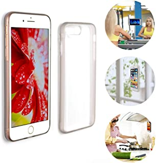 Anti Gravity Phone Case for iPhone X, 8 Plus, 7 Plus | Shockproof, Protective Cover | Clear and Transparent Magical Antigravity case | Stick Anywhere on Smooth Flat Surfaces (iPhone 7 Plus)