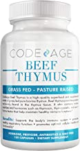 Codeage Grass Fed Beef Thymus Supplement - Freeze Dried, Non-Defatted, Desiccated Beef Thymus & Liver Pills Glandulars Mea...