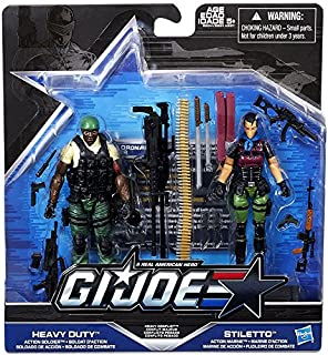 G.I. Joe, 50th Anniversary, Heavy Conflict Exclusive Action Figure Set (Heavy Duty vs Stiletto), 3.75 Inches