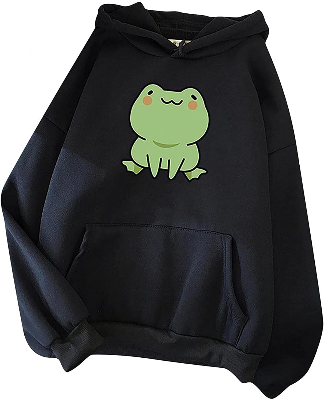 Sweatshirts for Teen Girls Vintage, Cute Graphic Hoodies Long Sleeve Tops Casual Crewneck Pullover Drawstring Blouses