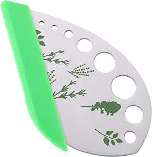 LaGoldoo Herb Leaf Stripper Cutter with Blade, 9 Holes Stainless Steel Kitchen Herb Peelers Chopper Tool for Kale, Parsley...