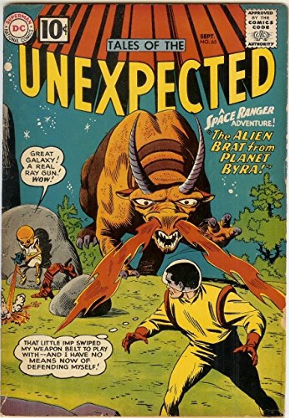UNEXPECTED (TALES OF) 65 VG Space Ranger glossy COMICS ztpwa288332
