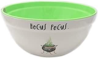 Rae Dunn By Magenta HOCUS POCUS. Script Melamine Cauldron Icon Mixing Bowl With Green Interior