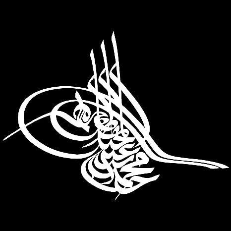 Osmanli Tugrasi Aufkleber Auto Sticker Autosticker Autoaufkleber Araba Yapiskan Ottoman Osmanen Schwarz Küche Haushalt