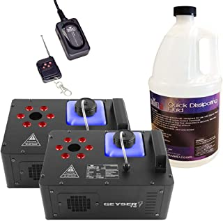 Chauvet Geyser T6 Fog Machines (x2) w/Fluid & Remote
