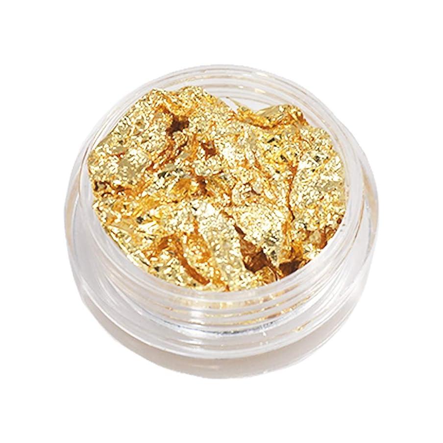 ステートメント然とした征服する金箔 ネイルホイル ゴールド