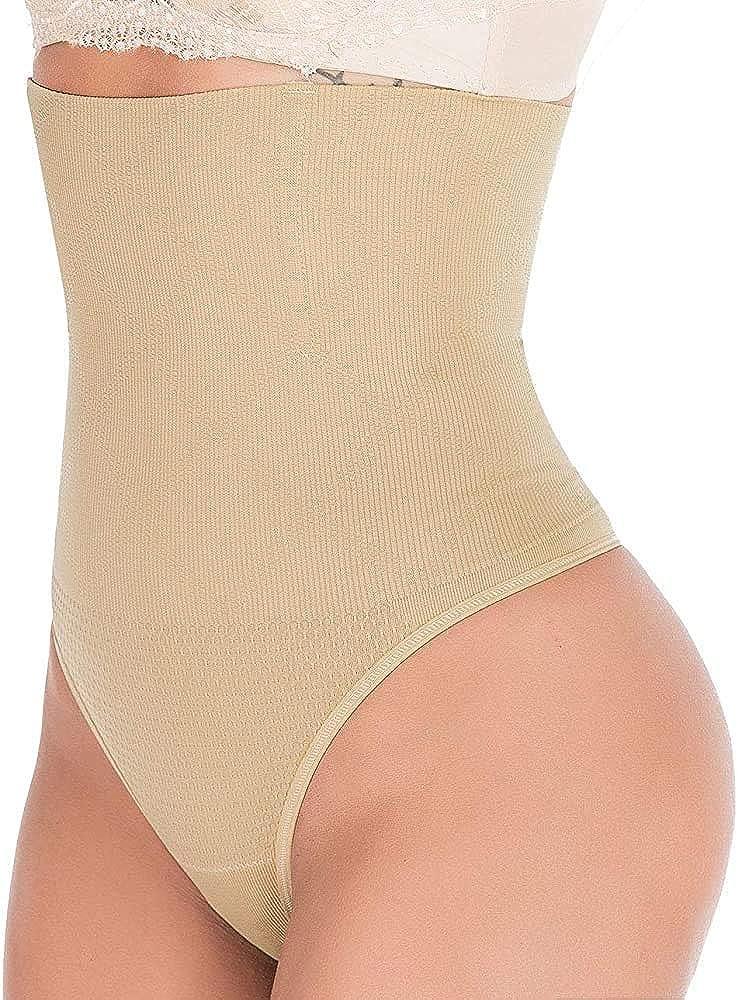 SHAPERIN Women Thong Tummy Control Shapewear Butt Lifter Sexy Slimmer Seamless Waist Cincher Gridle Panty