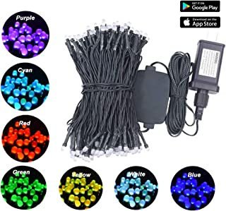 NIDENIONLED Smart String Lights, RGB 200Led 65ft 20 Functions, Remote Wireless Control by App, Indoor Outdoor Decorative Lights, Mini Bluetooth String Lighting